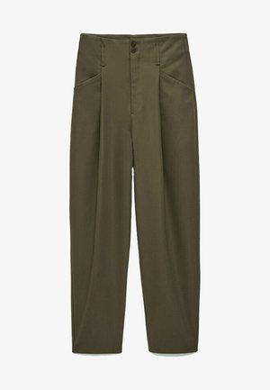 AUS FUNKTIONSSTOFF - Pantalon classique - metallic grey