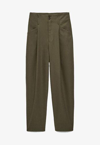 AUS FUNKTIONSSTOFF - Trousers - metallic grey