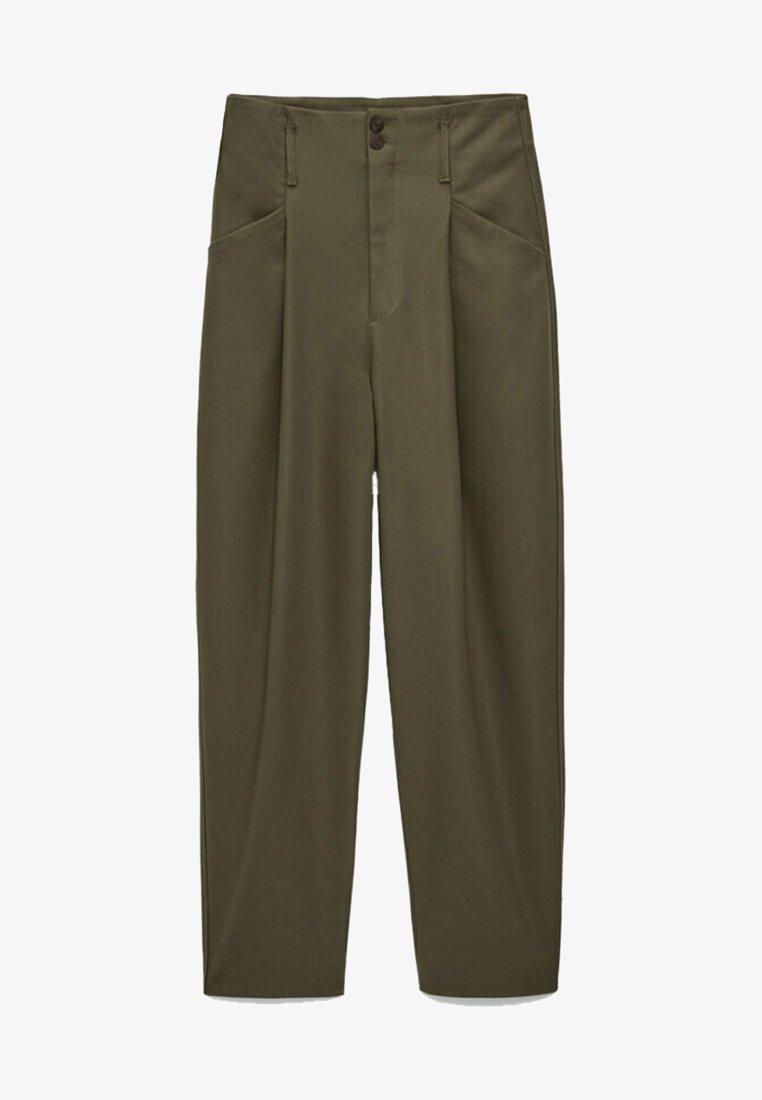 Massimo Dutti - AUS FUNKTIONSSTOFF - Spodnie materiałowe - metallic grey