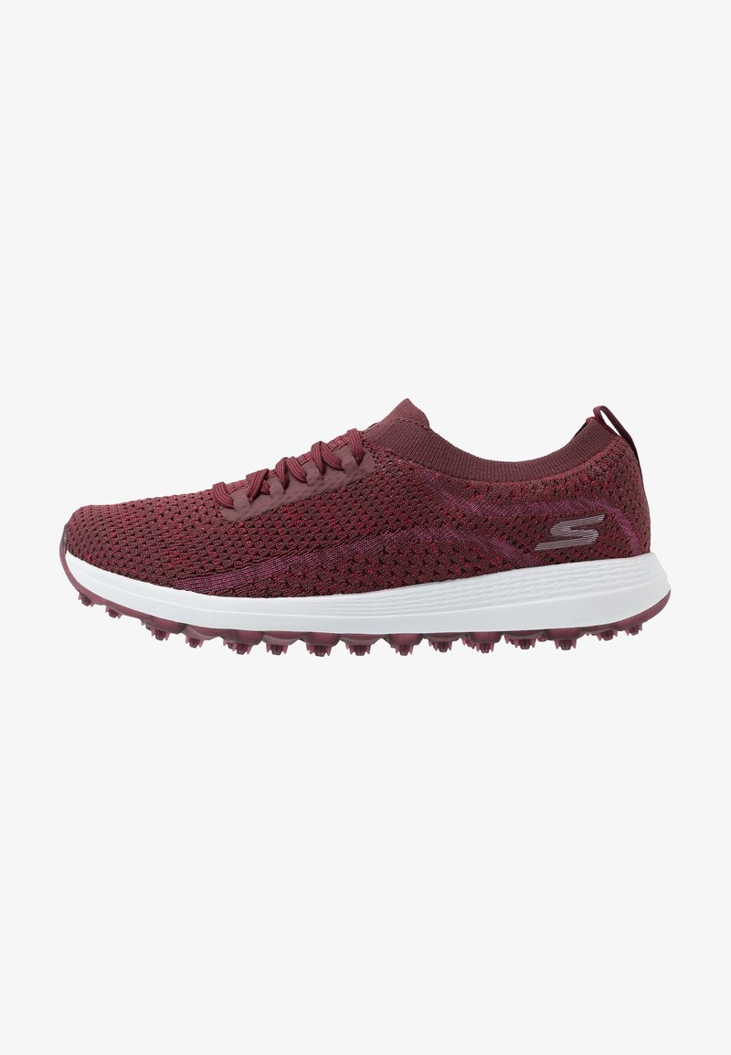 Skechers Performance - MAX GLITTER - Golf shoes - burgundy