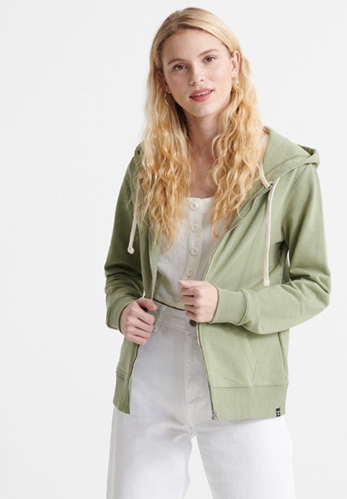 Women ORGANIC COTTON STANDARD LABEL ZIP HOODIE - Zip-up sweatshirt