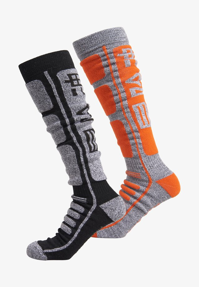 TWO PACK - Sports socks - black/grey marl