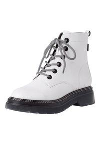 Tamaris - Platform ankle boots - white/black - 2