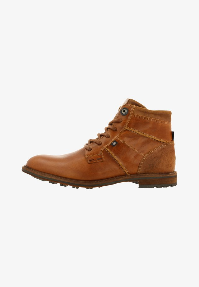CREW HIGH BOAT - Lace-up ankle boots - cognac