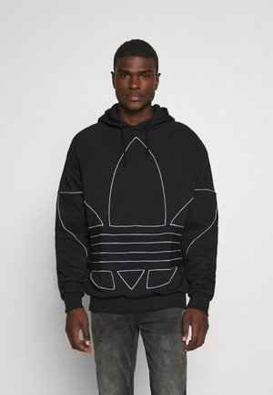 OUT HOODY - Mikina s kapucí - black/white