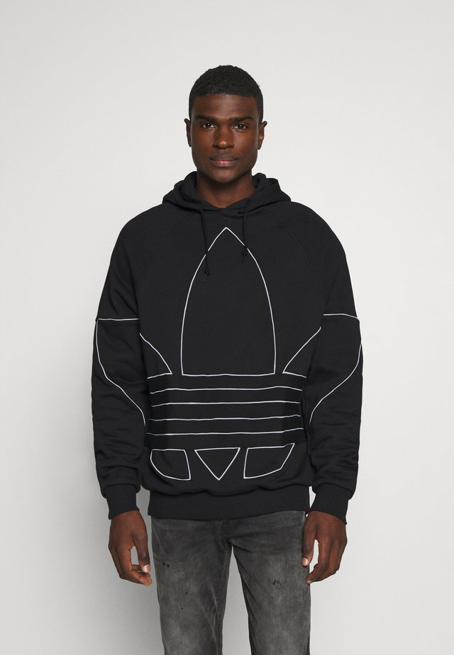 OUT HOODY - Jersey con capucha - black/white