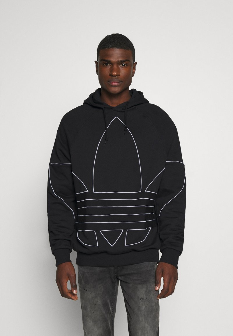 adidas Originals - OUT HOODY - Hoodie - black/white