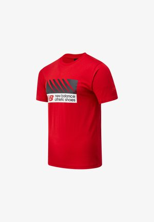 ATHLETICS VILLAGE TEE - Printtipaita - team red inline