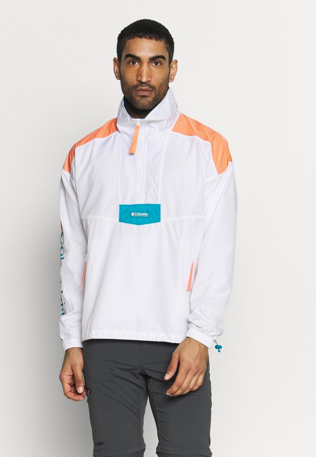 SANTA ANA ANORAK - Veste coupe-vent - white/brigt nectar/clear water