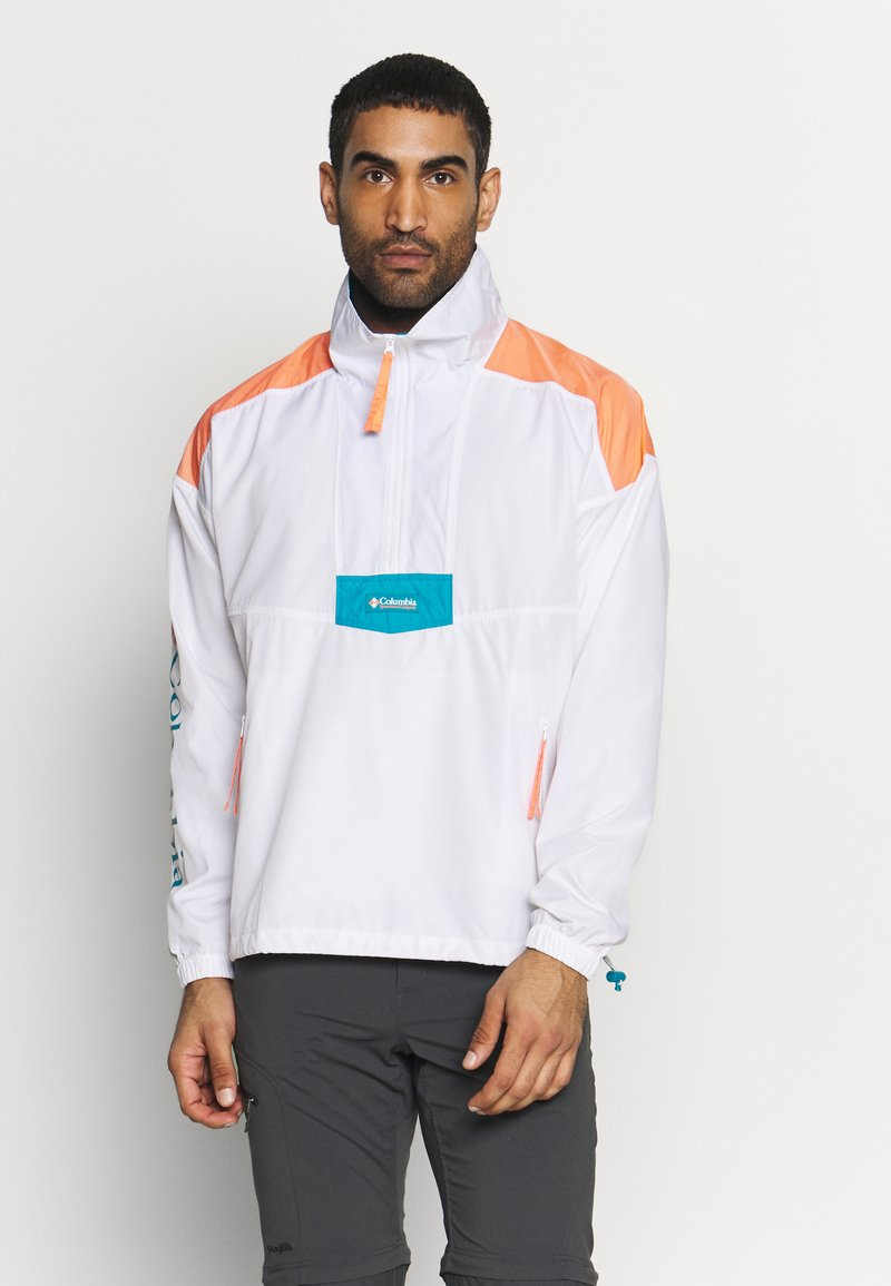 Columbia - SANTA ANA ANORAK - Veste coupe-vent - white/brigt nectar/clear water