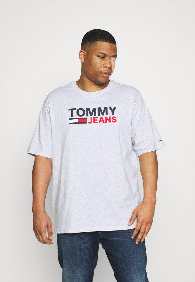 CORP LOGO TEE - T-shirt imprimé - silver grey