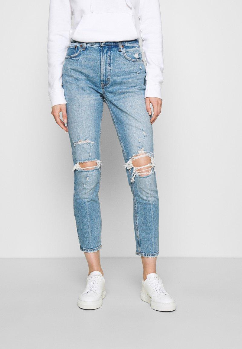 Abercrombie & Fitch - KNEE CURVE LOVE  - Jeans Skinny Fit - blue denim