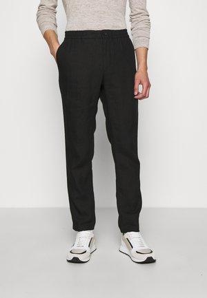 SASHA DRAPE PANTS - Trousers - black