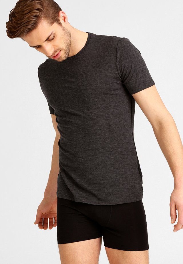 ANATOMICA - Basic T-shirt - jet heather/black