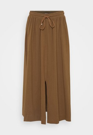 RADAR - A-line skirt - gold grun braun