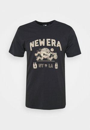 RETRO GRAPHIC TEE - Print T-shirt - navy