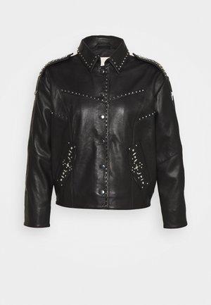 BELVISA - Leather jacket - noir
