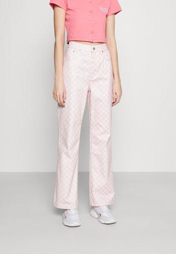 SPECTRE - Jeans straight leg - pink/beige