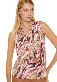comma - Blouse - pink zebra lines - 4