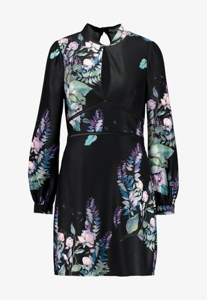 ROXBY FLORAL LONGSLEEVE MINI SHIFT DRESS - Koktejlové šaty / šaty na párty - multi