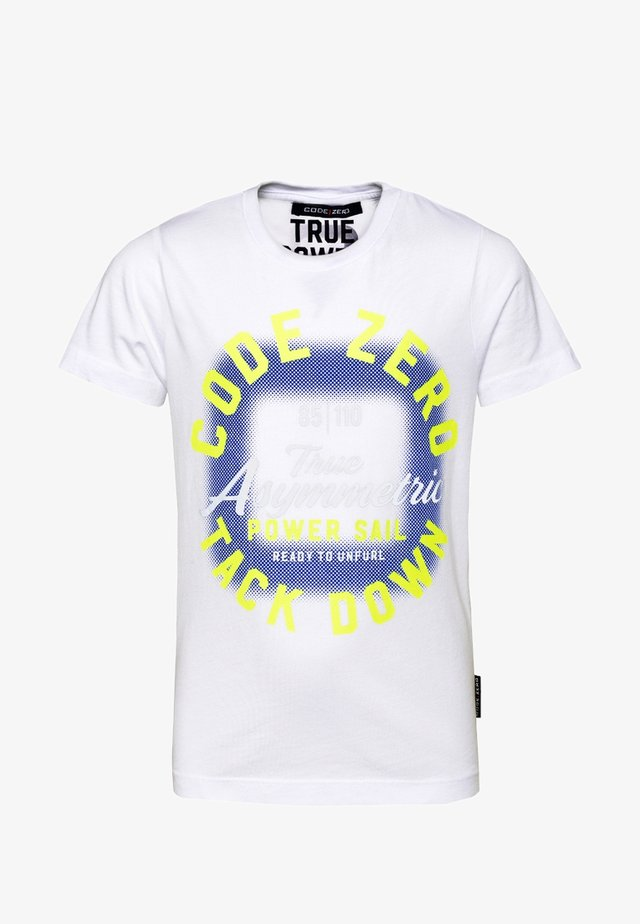 TACK DOWN - Print T-shirt - white