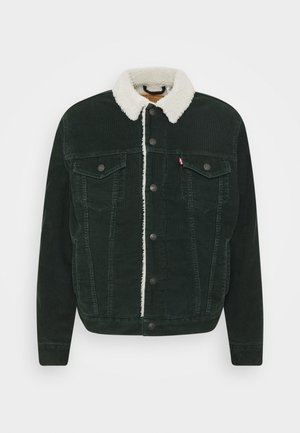 Denim jacket - scarab cord sherpa trucker