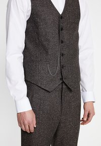 Shelby & Sons - PERRY WAISTCOAT - Chaleco - dark brown - 4
