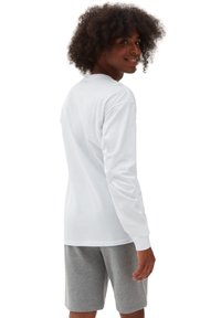 Vans - MN AUTHENTIC CHECKER LS - Sweatshirt - white - 1