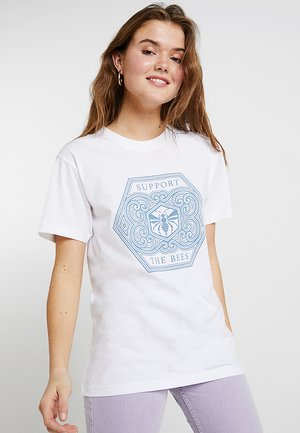 LADIES SUPPORT THE BEES TEE - Print T-shirt - white