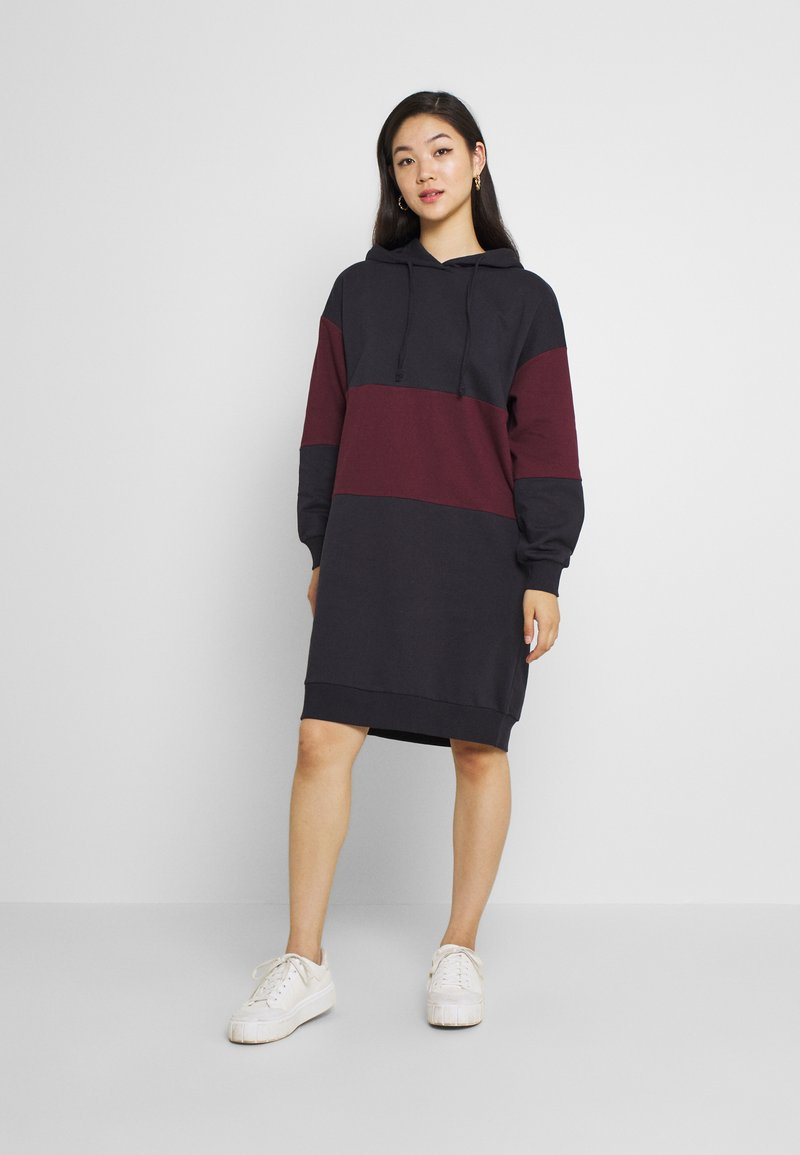 ONLY - ONLDREAMER COLOR BLOCK HOOD DRESS - Day dress - night sky/port royale