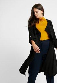 Evans - LONGLINE JACKET - Krátký kabát - black - 3