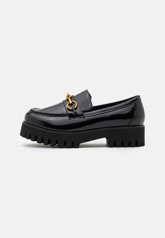 WIDE FIT EMPIRE - Slippers - black