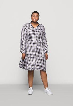 CARDIEMA DRESS - Shirt dress - cloud dancer/purple black