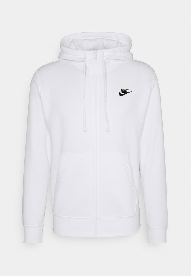 CLUB HOODIE - Sweatjacke - white/black