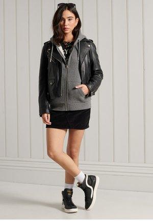 veste en sweat zippée - dark marl