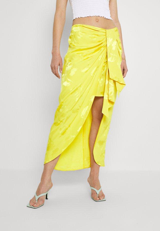 Áčková sukně - yellow bright