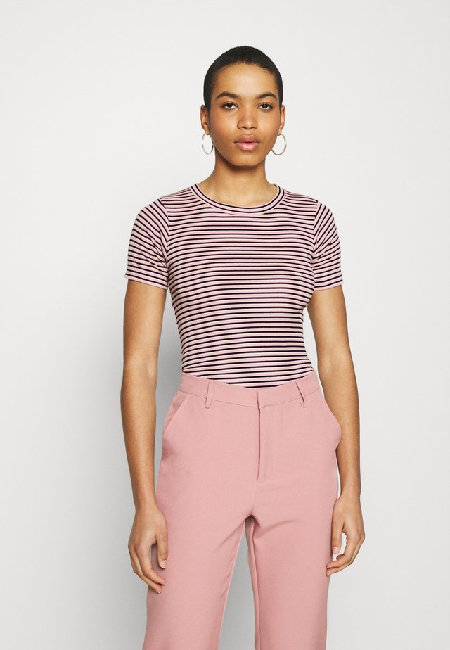 STRIPE TRUNA - T-shirt print - pink