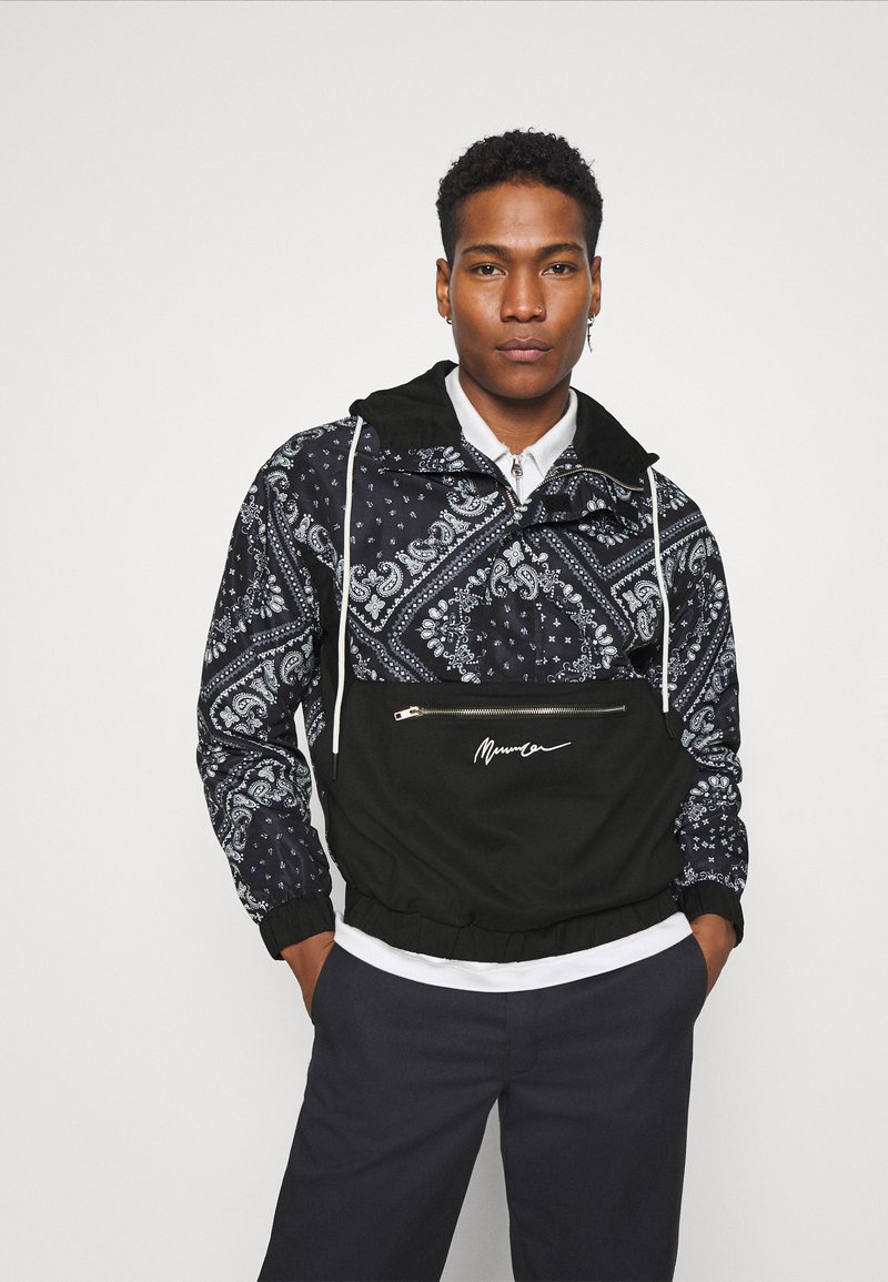 Mennace - BANDANA PRINT OVERHEAD JACKET - Windbreaker - black