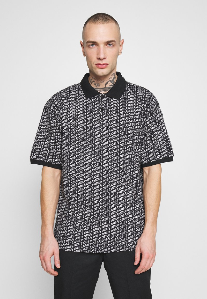Obey Clothing - CUTTER - Polotričko - black