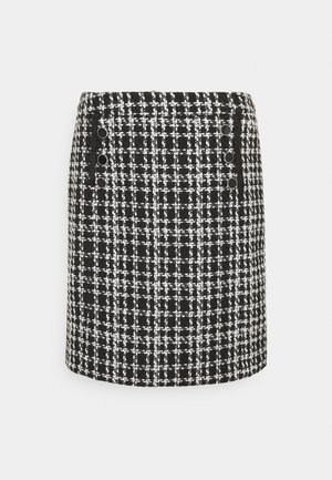 MONO CHECK SKIRT - Mini skirt - mono
