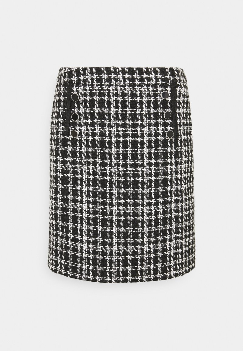 Wallis - MONO CHECK SKIRT - Mini skirt - mono