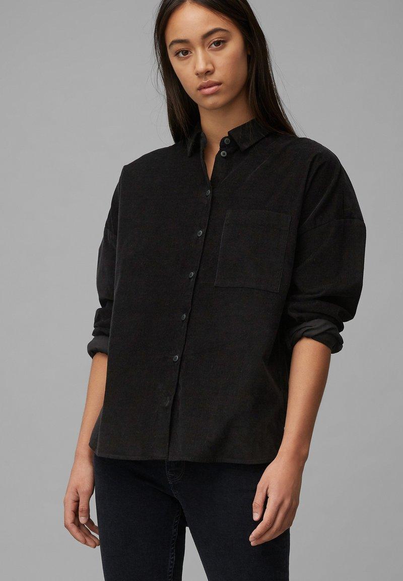 Marc O'Polo DENIM - Button-down blouse - black