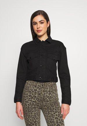 CROPPED JACKET - Denim jacket - black