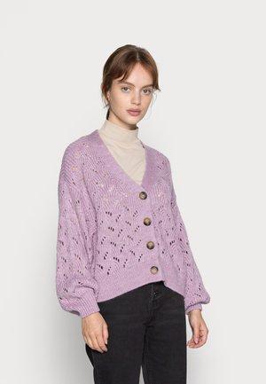 PCCHLOE CARDIGAN - Cardigan - sheer lilac