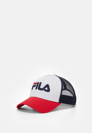 TRUCKER LINEAR LOGO SNAP BACK UNISEX - Kšiltovka - black iris/true red/bright white