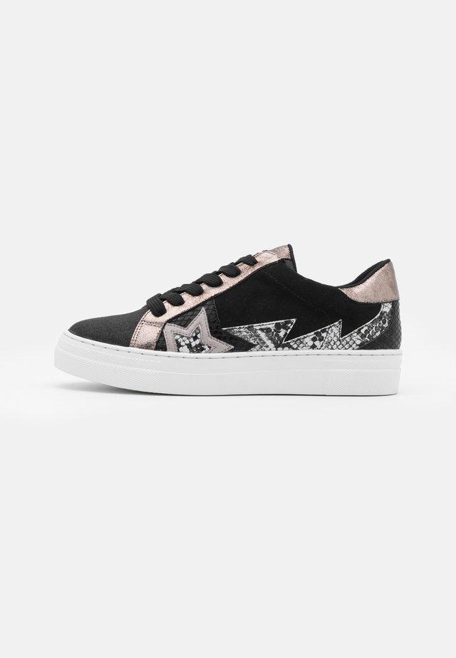 Sneakers basse - glitter/nero