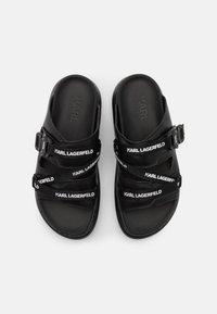 KARL LAGERFELD - KAPRI STRAP  - Pantofle - black - 4