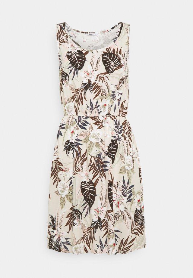ONLNOVA LIFE SARA DRESS - Korte jurk - pumice stone