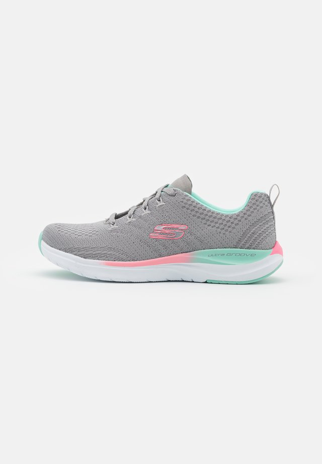 ULTRA GROOVE - Trainers - gray/mint/pink