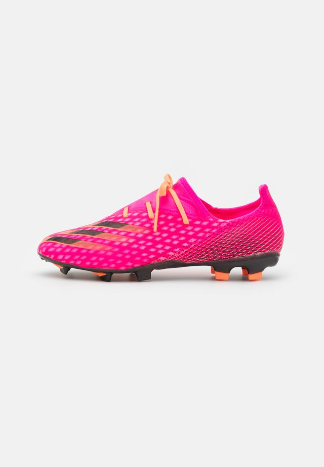 X GHOSTED.2 FG - Moulded stud football boots - shock pink/core black/screaming orange